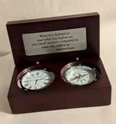 Compass Clock Silver Custom Emerson Quotes Ready to Ship