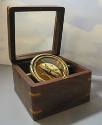 Glass Top Engraved Desk Compass SPECIAL SALE