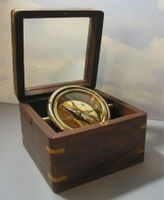 Glass Top Engraved Desk Compass: Emerson What Lies Behind Us