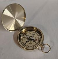 Large Solid Brass Pocket Business Gift Compass VOLUME DISCOUNTS