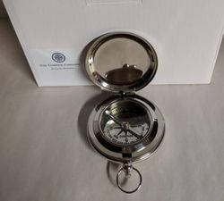 Silver Pocket Compass 2.25""