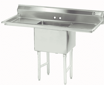 1 Compartment S.S. Sinks W/ 2 Drainboards