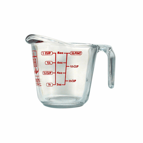1 Cup, Anchor Hocking Measuring Cup Glass