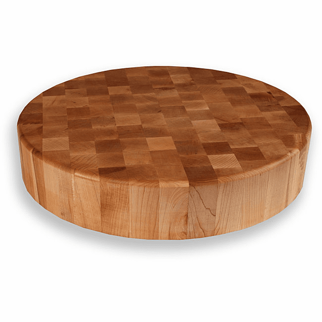 "18"" Round End Grain Chopping Block"
