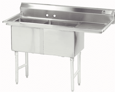 2 Compartment S.S. Sinks W/ Drainboard