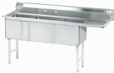 3 Compartment S.S. Sinks W/ Drainboard