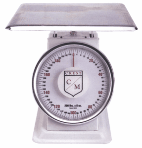 "60 lb x 4 oz. Scale - 10"" Dial Receiving Scales"