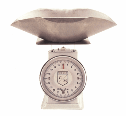 "8""  Dial Bakers Scale - With Stainless Steel Scoop"