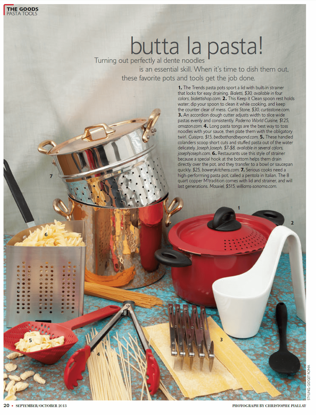 As seen in La Cucina Italiana ~ Sept/Oct 2013 Issue