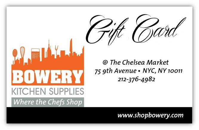 "Bowery Kitchen Gift Cards ""OUT OF STOCK''"