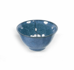 "Bowl 5.25"" Namako Blossoms Blue"
