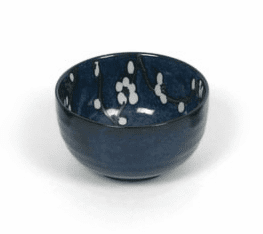 "Bowl 5"" Namako Blossoms Blue"