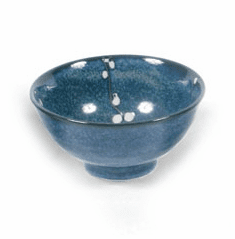 "Bowl 6.25"" Namako Blossoms Blue"