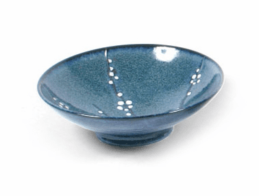 "Bowl 9.75"" Namako Blossoms Blue"
