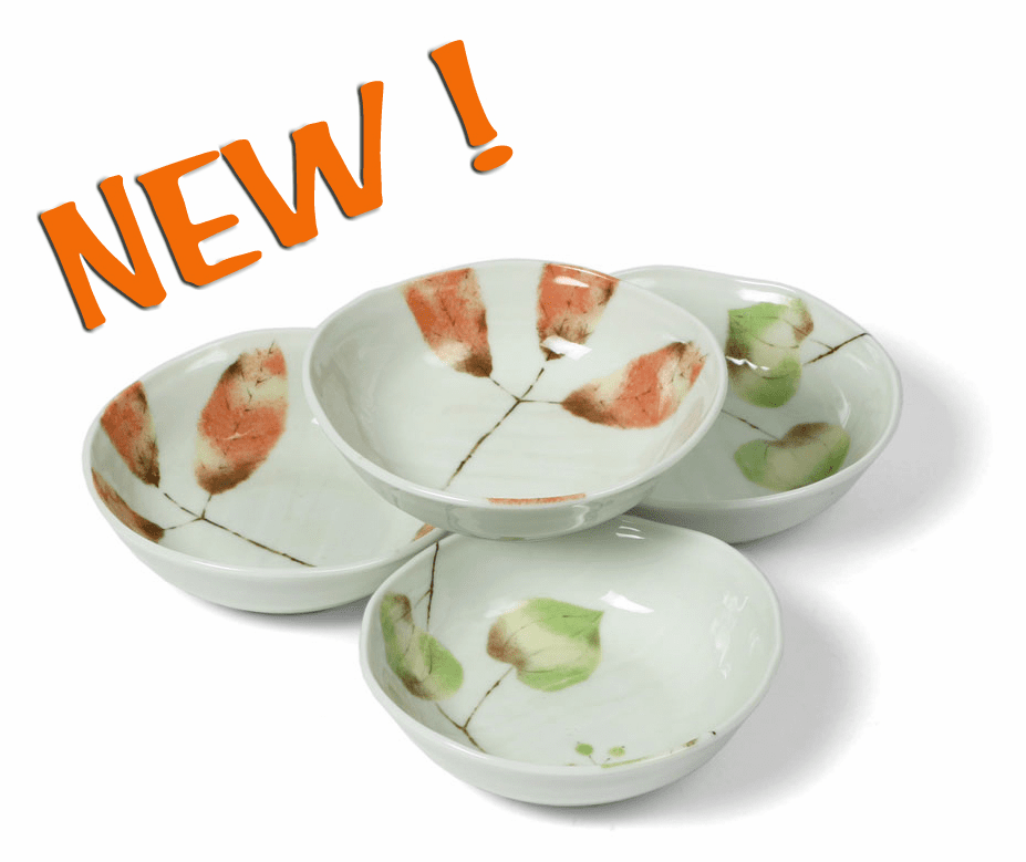 "Bowl Set 5.5"" (4pcs) Asst Spring/Fall Leaves"