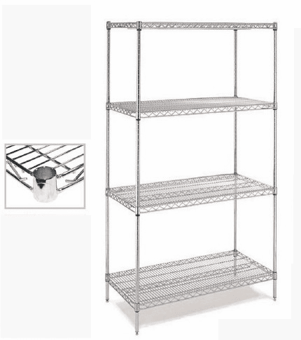 Chrome Wire Shelving - C18x60
