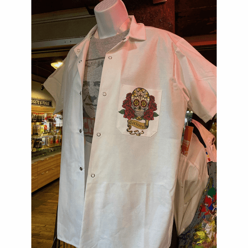 Cook Shirt White with Skull