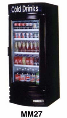 Glass Door Refrigerator 27 CF.