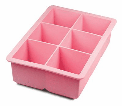 King Ice Cube Tray Pink