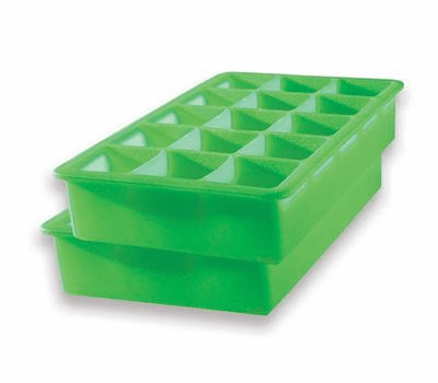 Perfect Ice Cube Tray Lime- (Set of 2)