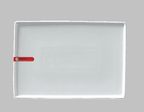 PLATE RECT 10.25X7.25 WHITE