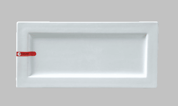 PLATE RECT 12.5X6 WHITE