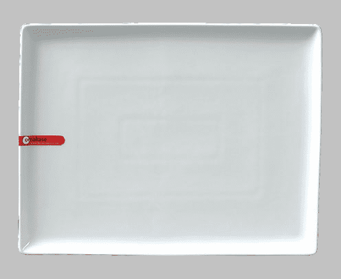 PLATE RECT 12X9.5 WHITE