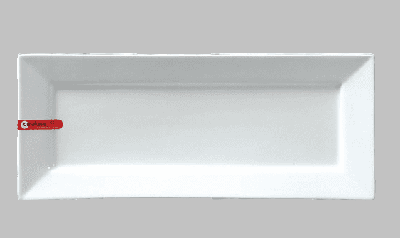 "PLATE RECT 14"" X 5.75"" WHITE / MIN 3 PCS TO SHIP"