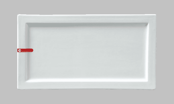PLATE RECT 16X8.75 WHITE