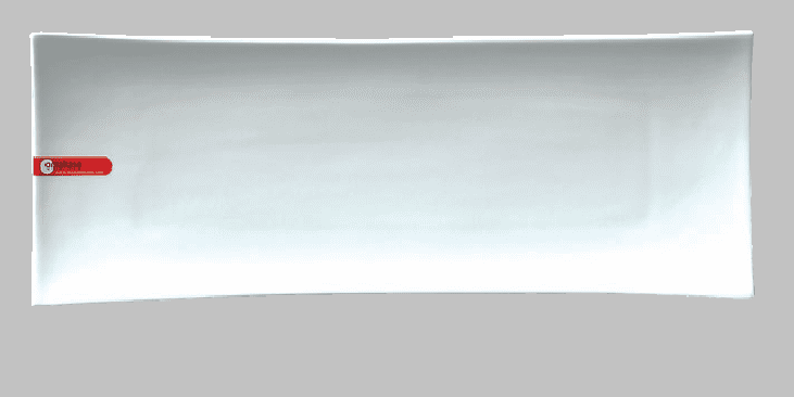 PLATE RECT 17.5X6 WHITE