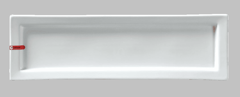 """PLATE RECT 21X6.5"""" WHITE"""