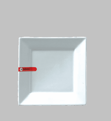 "PLATE SQ. 6.5"" WHITE / MIN 12 PCS TO SHIP"