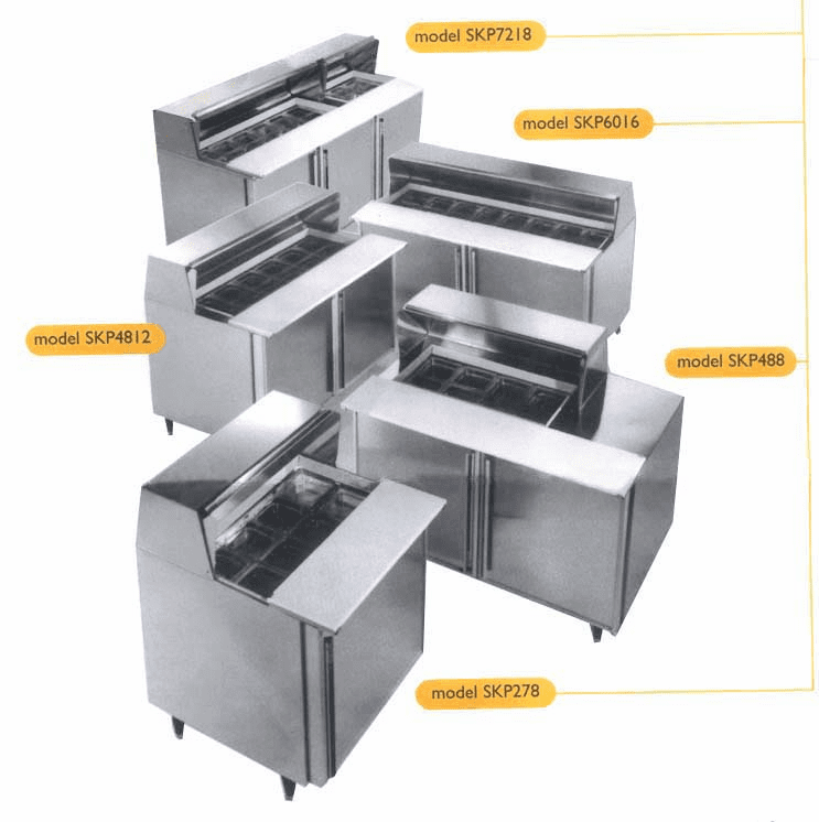 Refrigerated Prep Tables-Silver King
