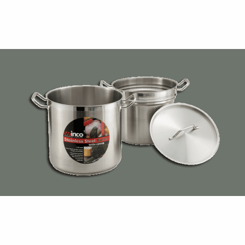 S/S  DOUBLE BOILER 8 QT W/COVER,