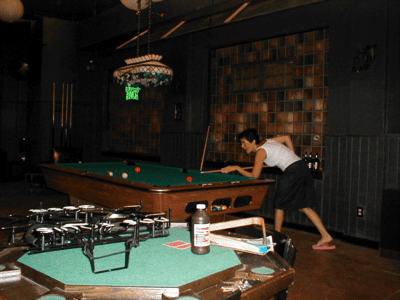 Shooting Pool in the Office