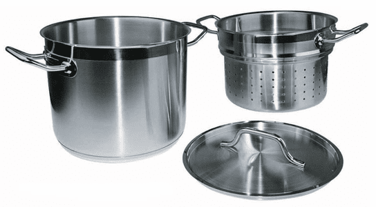 SS Stock Pot w/Steamer or DBl Boiler Insert and Cover