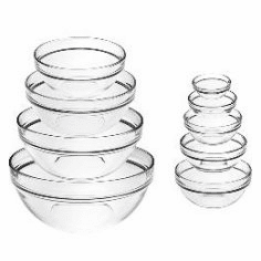 Stackable Glass Bowls