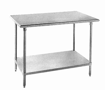 Stainless Steel Top With Galvanized base