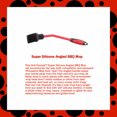 Super Silicone Angled BBQ Mop