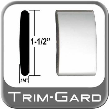 """1-1/2"""" Wide Chrome Body Side Molding Sold by the Foot, Trim Gard® # CMV01"""