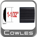 """1-1/32"""" Wide Black Tread Molding ( PK01 ), Sold by the Foot, Cowles® # 38-100-01"""