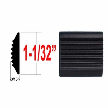 """1-1/32"""" Wide Black Tread Molding ( PK01 ), Sold by the Foot, Cowles® # 38-100"""