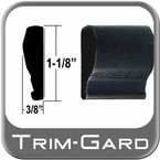 """1-1/8"""" Wide Black Body Side Molding Sold by the Foot, Trim Gard® # 1102NT-01"""