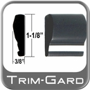 """1-1/8"""" Wide Black-Chrome Body Side Molding Sold by the Foot, Trim Gard® # 1102WC-01"""