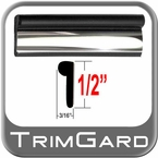 "1/2"" Wide Black / Chrome Wheel Molding Trim Sold by the Foot, Trim Gard® # BV01"