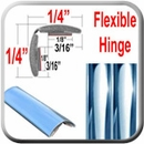 "1/2"" Wide (split) Chrome Chrome Flexible Molding Sold by the Foot, Cowles® # 37-794"