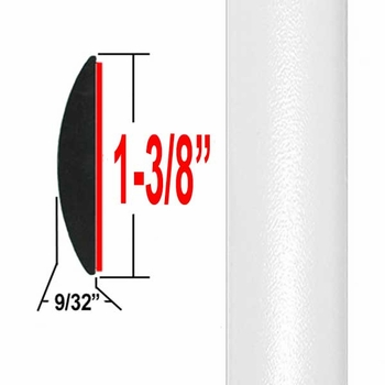 "1-3/8"" Wide Super White Molding Trim 040 ( CP13 ), Sold by the Foot, ColorTrim Plastics® # 60-13"