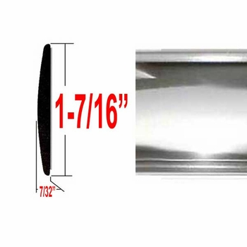 "1-5/16"" Wide Chrome Body Side Molding Sold by the Foot, Cowles® # 37-065-01"