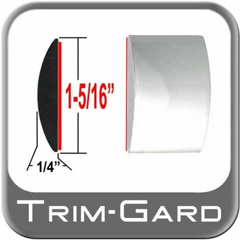 """1-5/16"""" Wide Chrome Body Side Molding Sold by the Foot, Trim Gard® # 1401"""