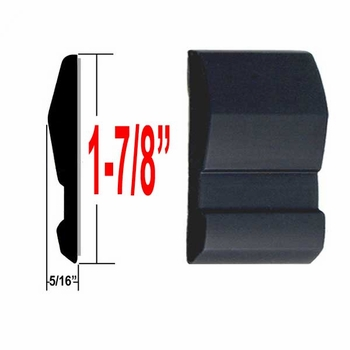 """1-7/8"""" Wide Black Body Side Molding Sold by the Foot, Trim Gard® # 1002NT"""